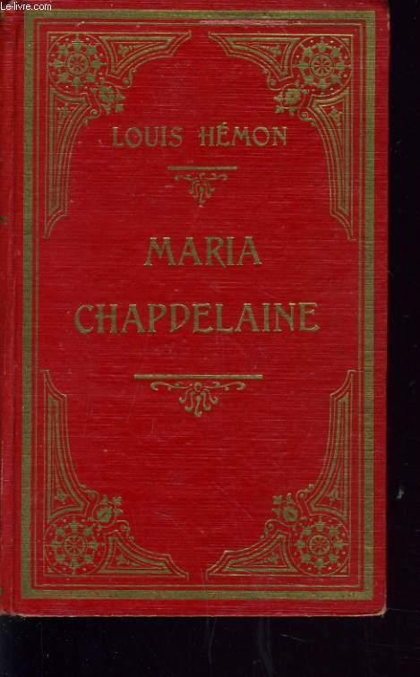 MARIA CHAPDELAINE récit du canada français