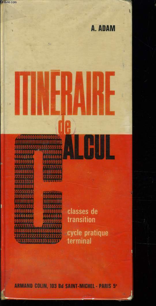 ITINERAIRE DE CALCUL classe de transition - cycle pratique terminal