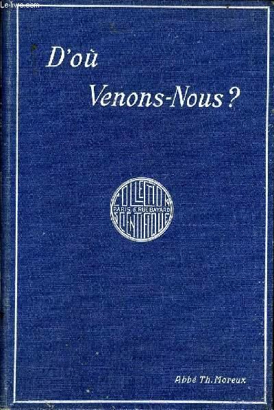 D'OU VENONS NOUS ?