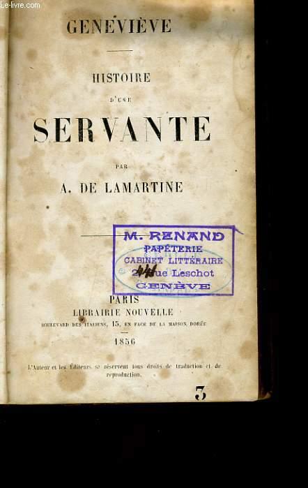 GENEVIEVE HISTOIRE D'UNE SERVANTE