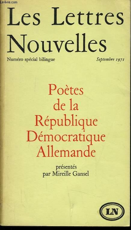 LES LETTRES NOUVELLES numéro spécial bilingue : Poètes de la république démocratique Allemande.