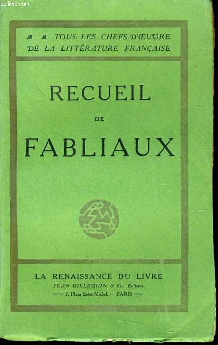 RECUEIL DE FABLIAUX
