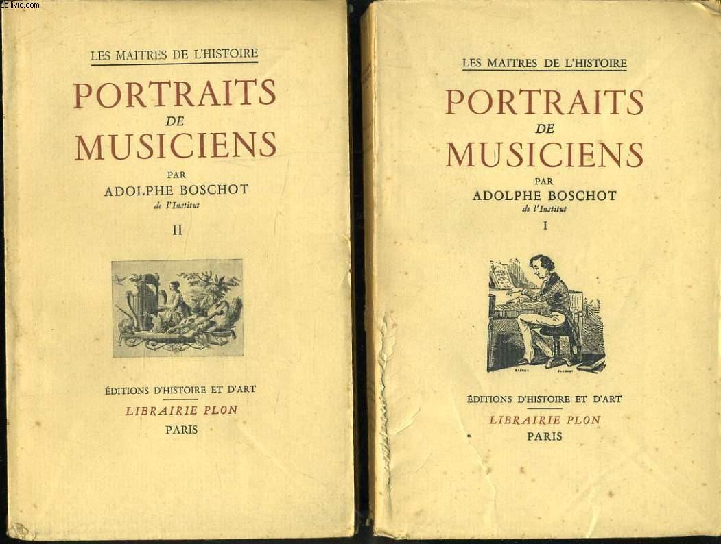PORTRAITS DE MUSICIENS en 2 tomes