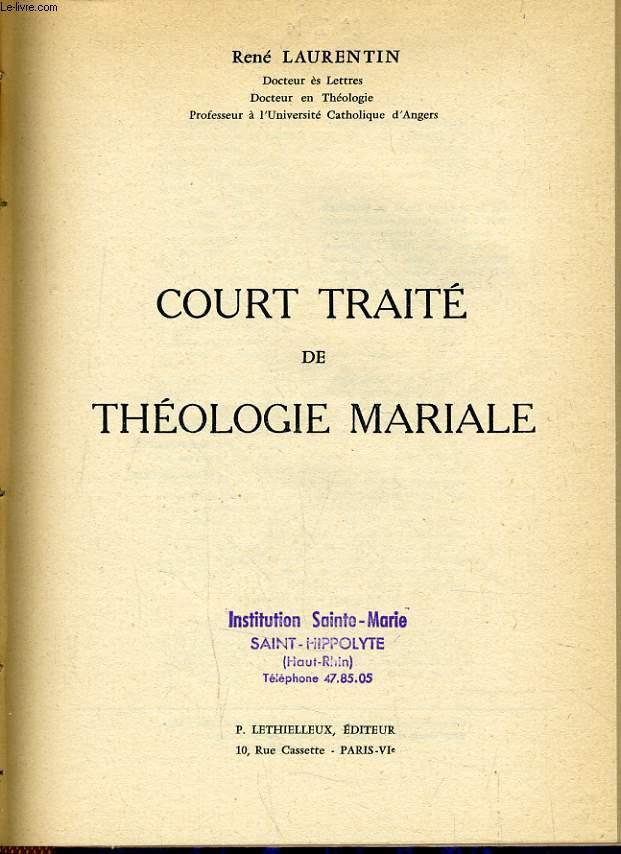 COURT TRAITE DE THEOLOGIE MARIAL