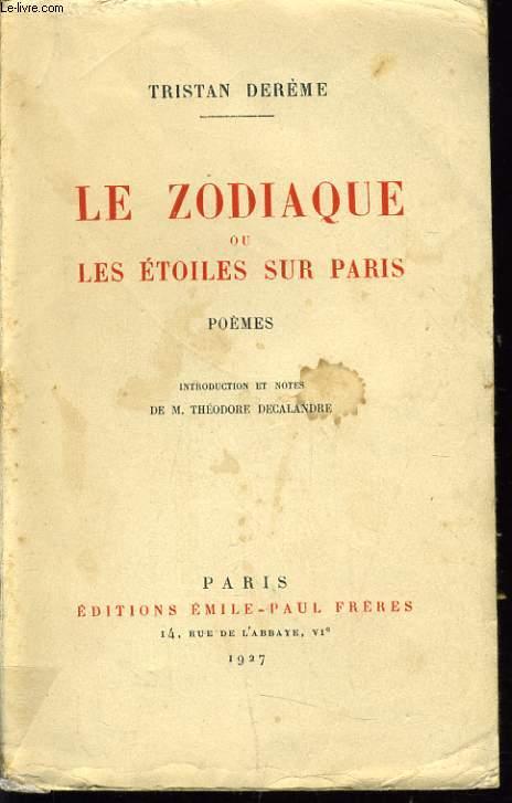 LE ZODIAQUE ou les étoiles sur Paris poèmes