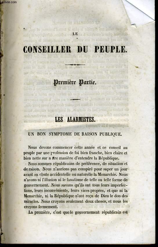 LE CONSEILLER DU PEUPLE 9 revues / GENEVIEVE histoire d'une servante dédicace à Mademoiselle Reine Garde