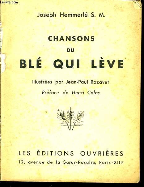 CHANSONS DU BLE QUI LEVE
