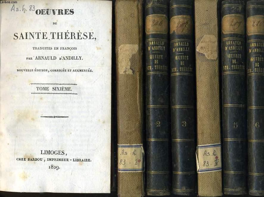 OEUVRES DE SAINTE THERESE en 7 tomes