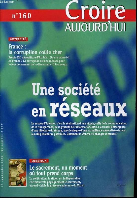 CROIRE AUJOURD'HUI n°160 : Actualité : France