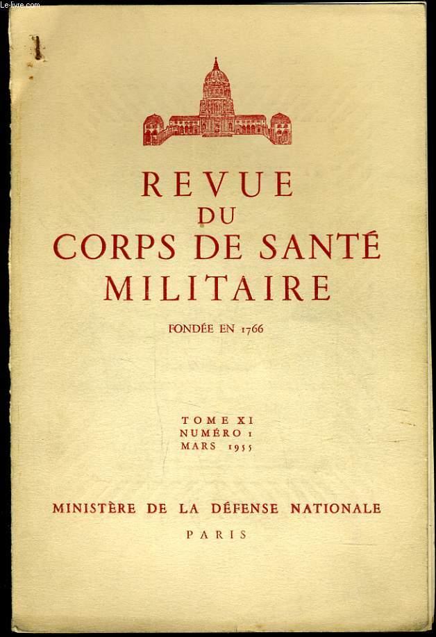 REVUE DU CORPS DE SANTE MILITAIRE Tome XI n°1