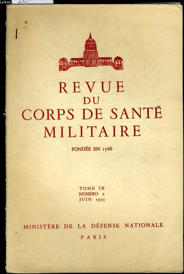 REVUE DU CORPS DE SANTE MILITAIRE Tome IX n°2