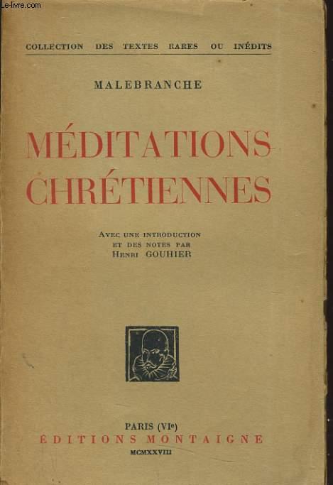 MEDITATIONS CHRETIENNES