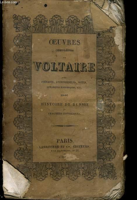 OEUVRES COMPLETES DE VOLTAIRE - HISTOIRE DE RUSSIE