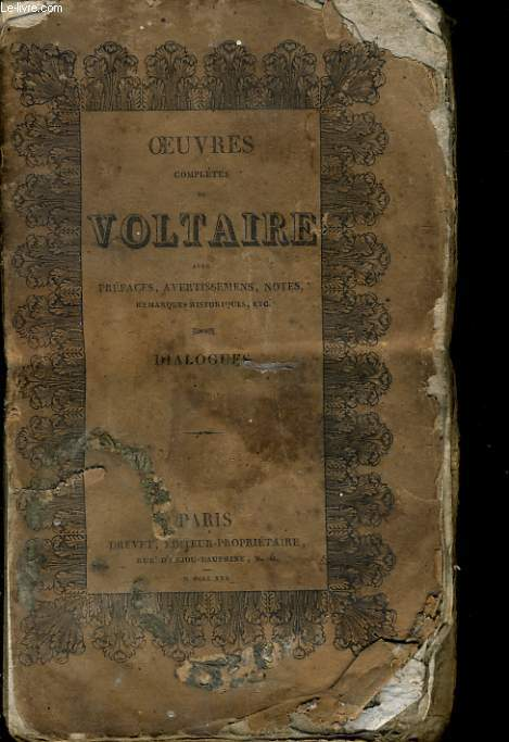 OEUVRES COMPLETES DE VOLTAIRE - DIALOGUES