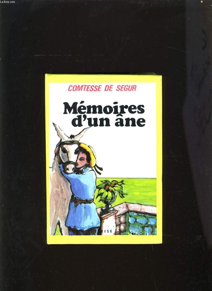 MEMOIRES D'UN ÂNE
