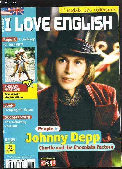I LOVE ENGLISH N°129 - JOHNNY DEPP, CHARLIE AND THE CHOCOLATE FACTORY