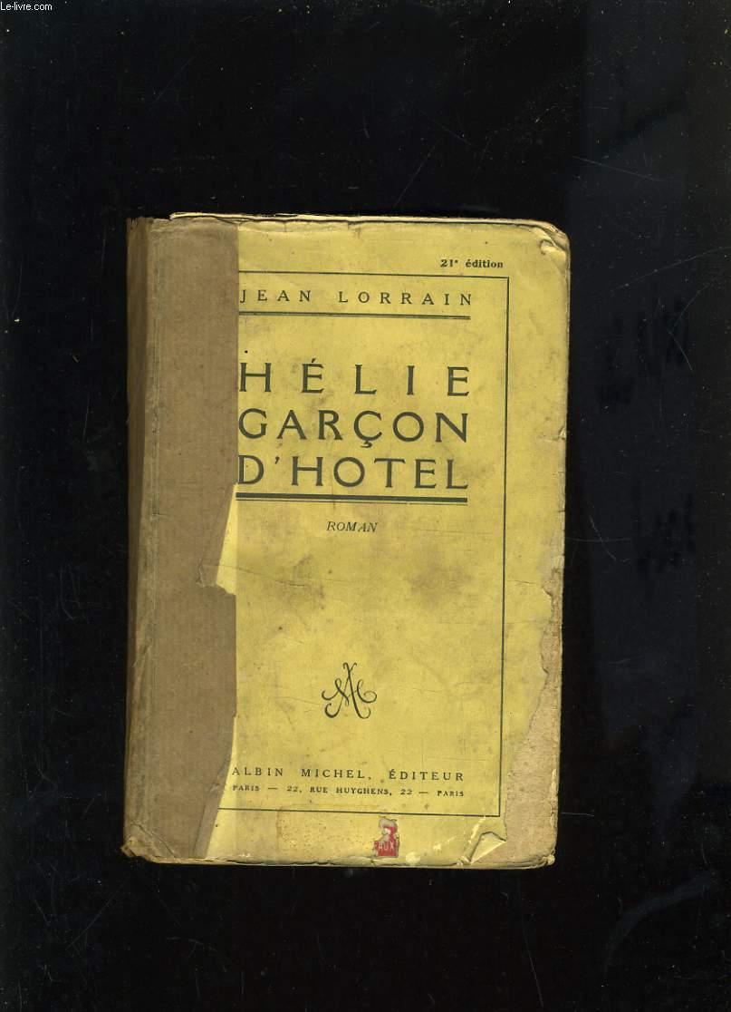 HELIE, GARCON D'HOTEL