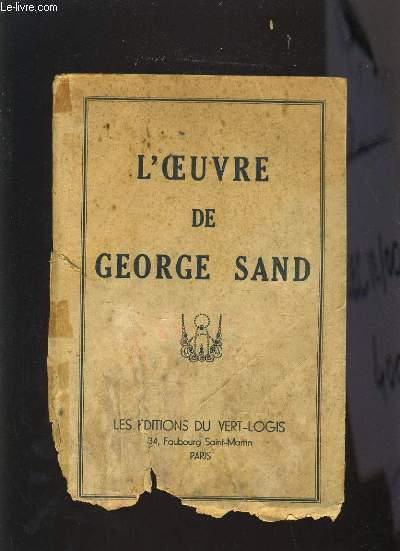 L'OEUVRE DE GEORGE SAND