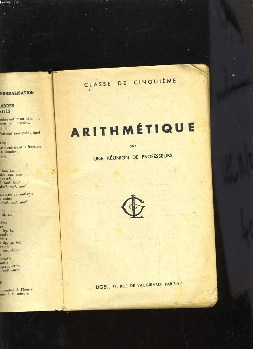 ARITHMETIQUE CLASSE DE CINQUIEME