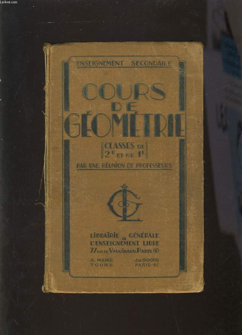 COURS DE GEOMETRIE - CLASES DE 2e ET DE 1e