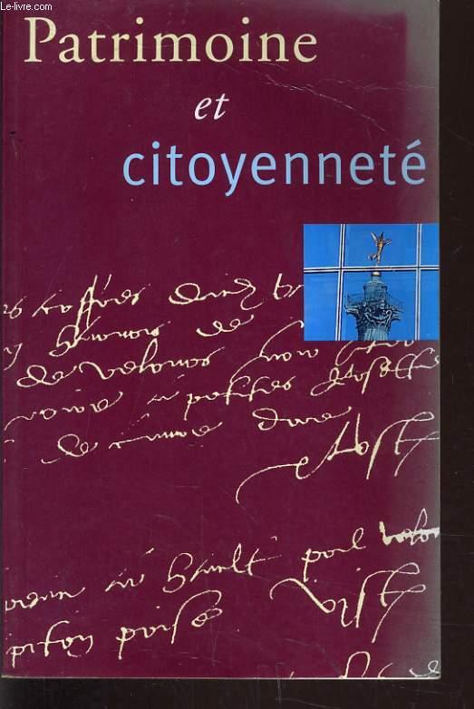 PATRIMOINE ET CITOYENNETE