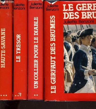 LE GERFAULT DES BRUMES TOME 1 - TOME 2 : UN COLLIER POUR LE DIABLE - TOME 3 : LE TRESOR - TOME 4 : HAUTE SAVANE.