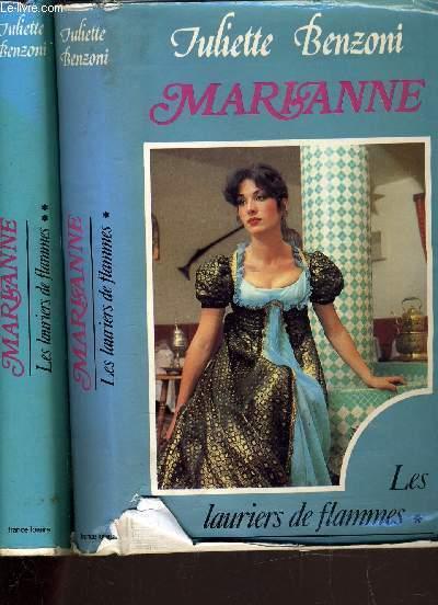 MARIANNE - LES LAURIERS DE FLAMMES TOME 1 ET TOME 2.