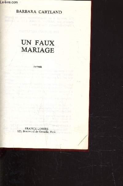 UN FAUX MARIAGE.