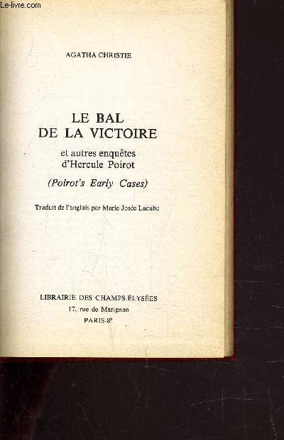LE BAL DE LA VICTOIRE.