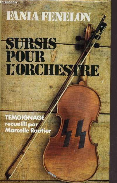 SURSIS POUR L'ORCHESTRE.