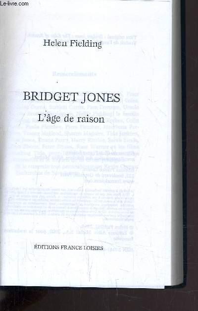 BRIDGET JONES - L'AGE DE RAISON.