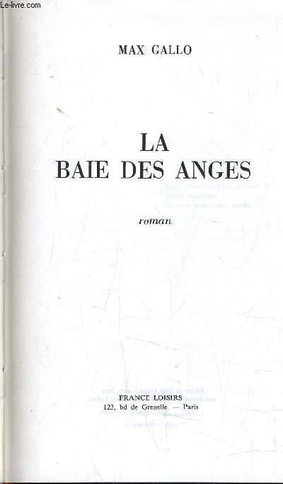 LA BAIE DES ANGES.