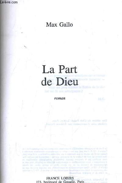 LA PART DE DIEU.