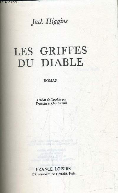 LES GRIFFES DU DIABLE.