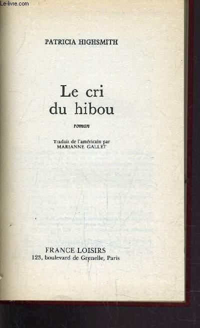 LE CRI DU HIBOU.