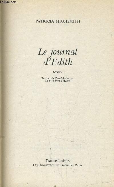 LE JOURNAL D'EDITH.