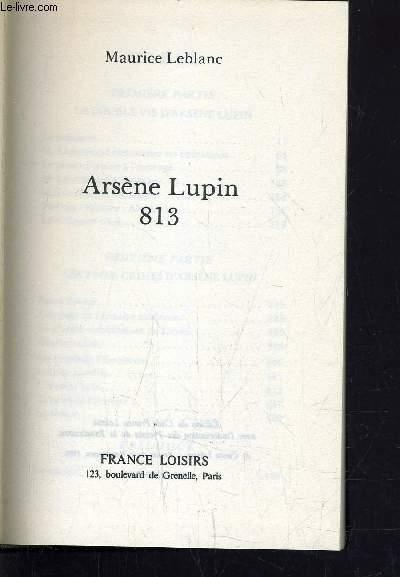 ARSENE LUPIN 813.