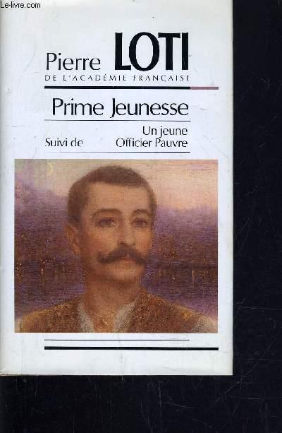PRIME JEUNESSE - UN JEUNE OFFICIER PAUVRE.