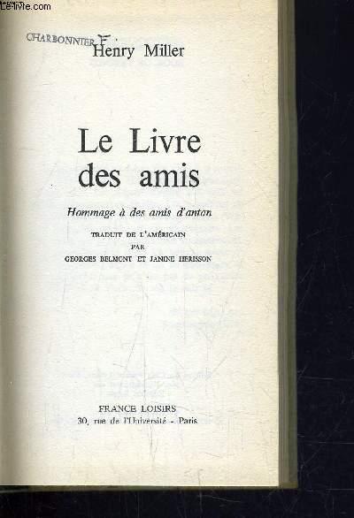 LE LIVRE DES AMIS.