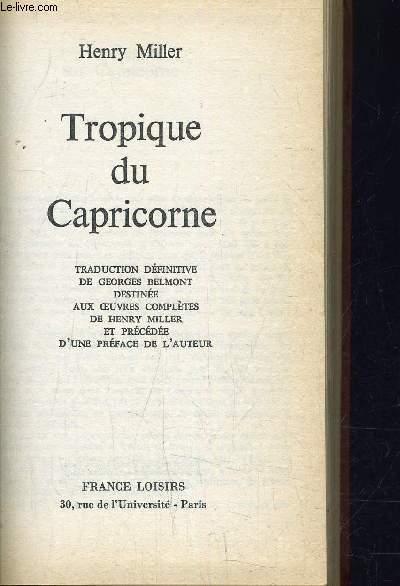 TROPIQUE DU CAPRICORNE.
