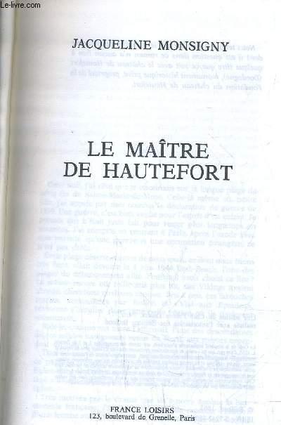 LE MAITRE DE HAUTEFORT.
