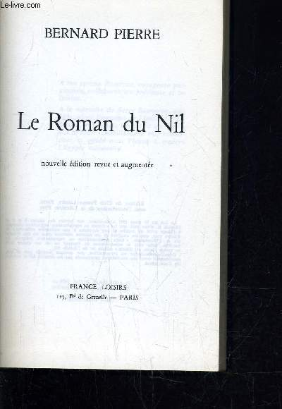 LE ROMAN DU NIL.