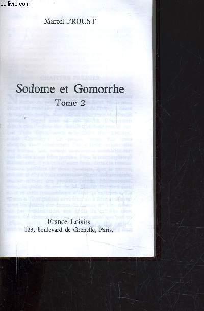 SODOME ET GOMORRHE - TOME 2.