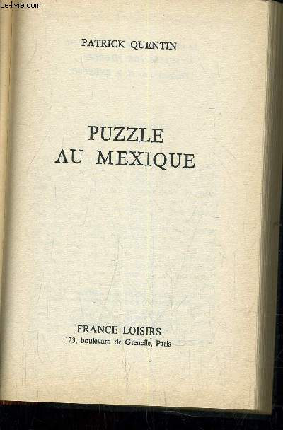 PUZZLE AU MEXIQUE.