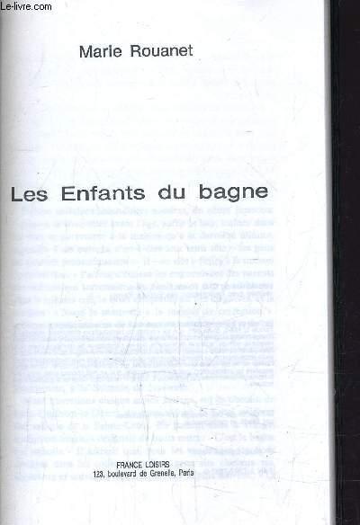 LES ENFANTS DU BAGNE.