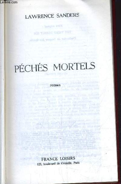 PECHES MORTELS.