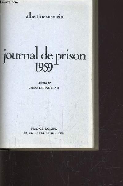 JOURNAL DE PRISON 1959.