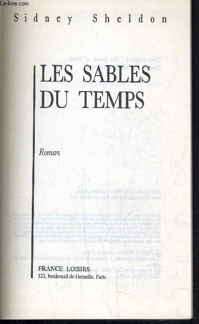 LES SABLES DU TEMPS.