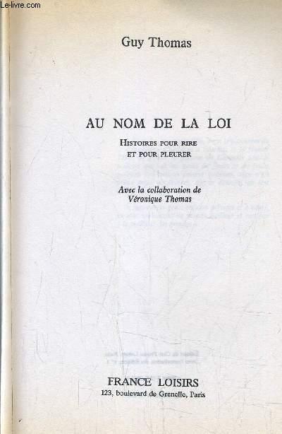 AU NOM DE LA LOI.