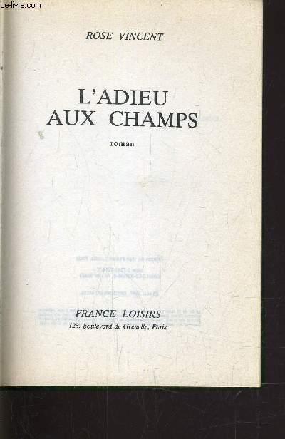 L'ADIEU AUX CHAMPS.